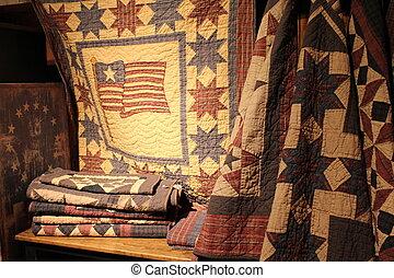 verlichting, zacht, americana, quilts