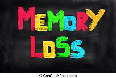 verlies, concept, geheugen