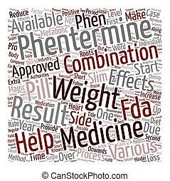 verlies, concept, gewicht, gezonde , tekst, wordcloud, phentermine, achtergrond