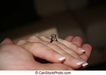 verlobung , hände
