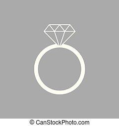 verlobung , ikone, ring, diamant