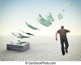 verloren, geld
