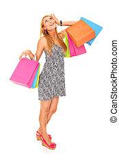 verloren, in, shoppen