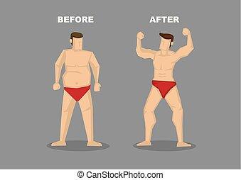 verlust, vektor, effektiv, gewicht, abbildung