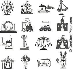 vermakelijkheid park, iconen