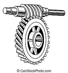 verme, meccanismo, ingranaggio