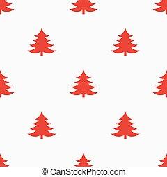 vermelho, árvores, fundo, natal