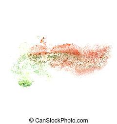 vermelho, abstratos, aquarela, desenho, fundo, insul, seu