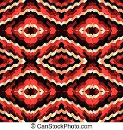 vermelho, abstratos, colorido, seamless, padrão, para, seu, desenho