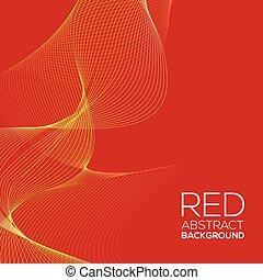 vermelho, abstratos, fundo, vetorial
