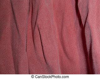 vermelho, algodão, camisa