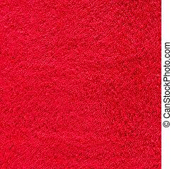 vermelho, algodão, textura