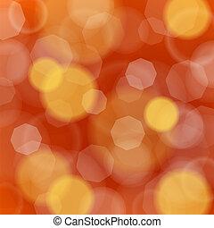 vermelho amarelo, defocused, boheh, ligh