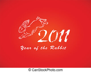vermelho, ano, coelho