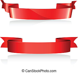 vermelho, banners.