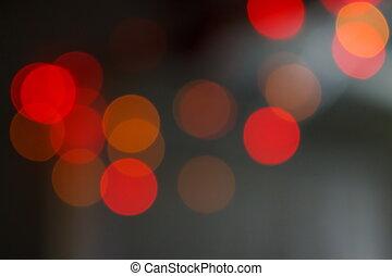 vermelho, bokeh, brilhar, borrão, mancha acende, ligado, abstratos, fundo