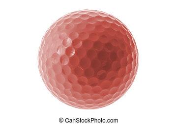 vermelho, bola golfe