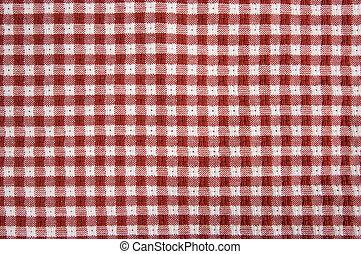 vermelho & branco, gingham, pano