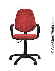 vermelho, cadeira escritório
