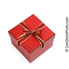 vermelho, caixa presente