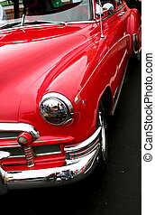 vermelho, carro clássico