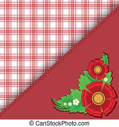 vermelho, checkered, fundo