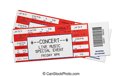 vermelho, concerto, bilhetes