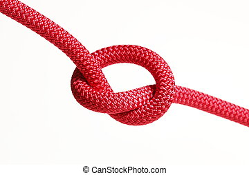 vermelho, corda, nó
