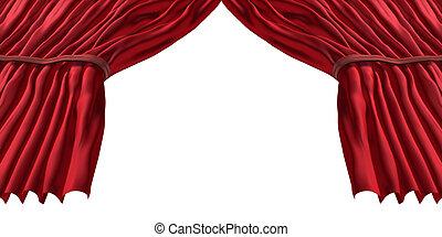 vermelho, cortina fase