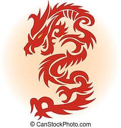 vermelho, dragão