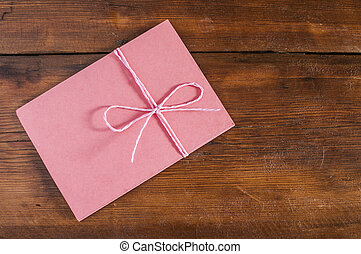vermelho, envelope