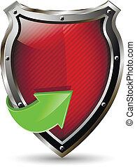 vermelho, escudo