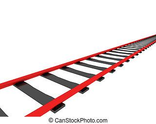 vermelho, estrada ferro