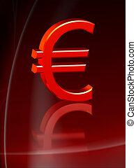 vermelho, euro