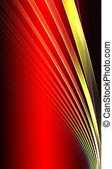 vermelho, experiência., abstratos, design., vermelho, e,...