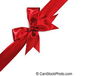 vermelho, feriado, arco, branco, fundo