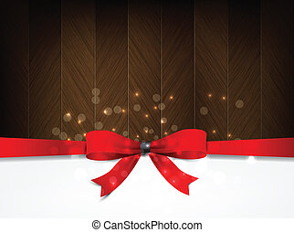 vermelho, feriado, fundo, wood., arco