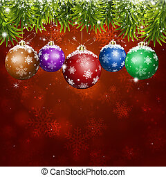 vermelho, feriado, natal, cartão cumprimento