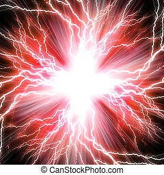 vermelho, flash, elétrico, fundo, relampago