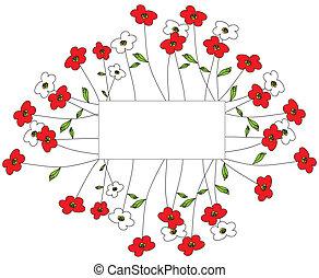 vermelho, flower.eps