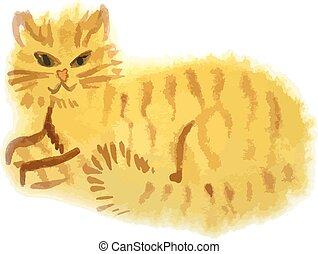 vermelho, gato