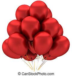 vermelho, glamour, balões