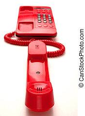 vermelho, hotline, telefone