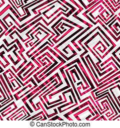 vermelho, labirinto, seamless, padrão