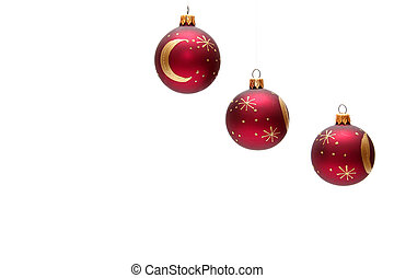 vermelho, natal, bulbos