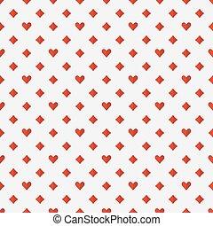 vermelho, pôquer, seamless, padrão