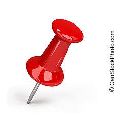 vermelho, pushpin
