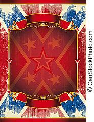 vermelho, quadro, cartaz