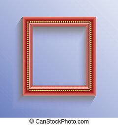vermelho, quadro