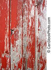 vermelho, rústico, celeiro, madeira, fundo